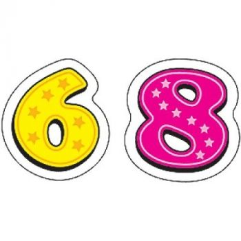 Numbers Shape Stickers CD5262
