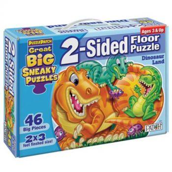 Dinosaur Land 2-Sided Floor Puzzle