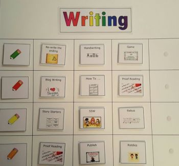 Writing Taskboard with Activity Cards