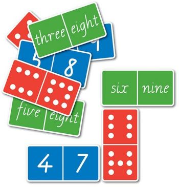 Dominoes- Dot, Number and Word Double Nine Sets - GA437