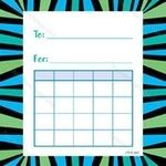 Mini Incentive Charts- Blue and Green Stripes CTP1481