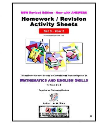 Maths and English Homework/Revision Activity Sheets: Year 3 - Set 3