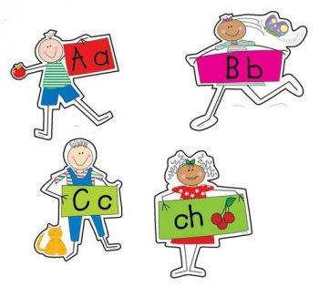 Alphabet Kids Bulletin Board Set CTP1596
