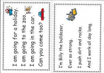 A5 Laminated Basic Word Poems (Set of 10)