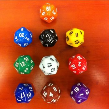 20 sided dice Pack of 10 - GA305/10