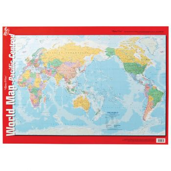 World Map Pacific Centred - Double Sided Wallchart