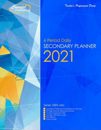 2021 Secondary Daily 6 Period Planner (Wiro)- TPD2583