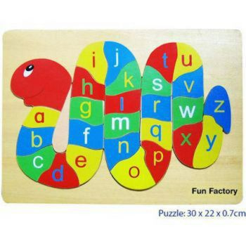 Alphabet Raised Wooden Puzzle - Snake