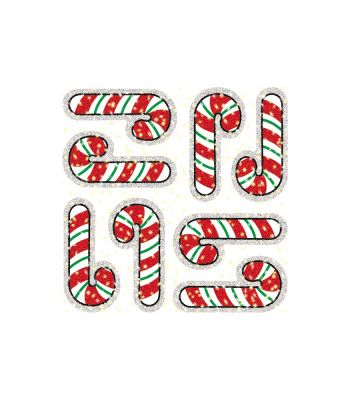 Candy Cane Dazzle Stickers CD2936