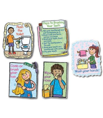 Hygiene- Kid Drawn Bulletin Board Set CD3258