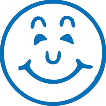 Blue Smiley Face Merit Stamp