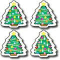 Christmas Trees Shape Stickers CD5226
