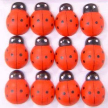 Wooden Ladybird Counters - MA047