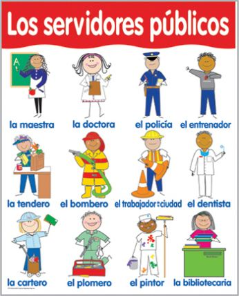 Spanish Community Helpers Chart CTP5794
