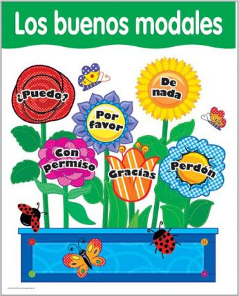 Spanish Good Manners Chart CTP5795