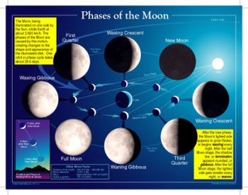Phases of the Moon Chart CD5858