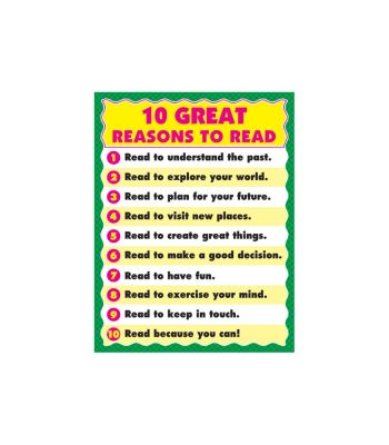 10 Great Reasons to Read Chart CD6293