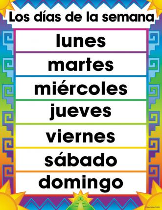 Spanish Days of the Week CD6339