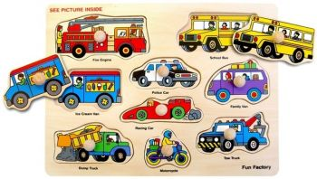 Vehicles Puzzle with Knobs