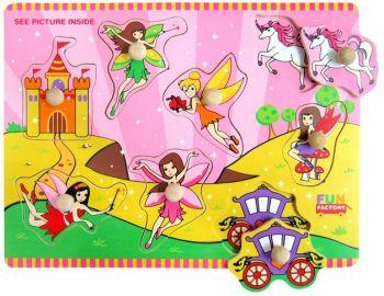 Fairy Wooden Peg Puzzle
