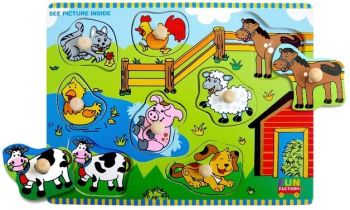 Farm House Puzzle with Knobs