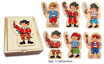 Dress Up Pirate Wooden Puzzle Set