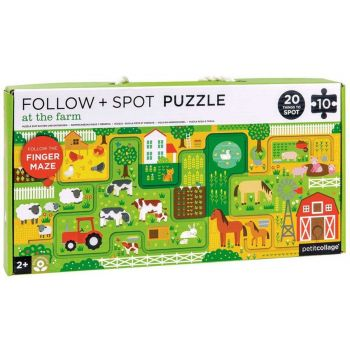 At The Farm- Follow and Spot Puzzle