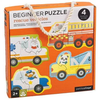 Rescue Vehicles- Set of 4 Beginner Puzzles