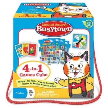 4 in 1 Games Cube- Richard Scarry's Busytown