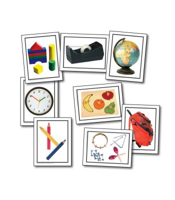 Things At School Photographic Learning Cards KE845017