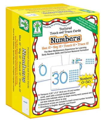 Textured Touch and Trace Cards: Numbers - KE846013