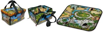 ZipBin- Zoo Mini Playmat