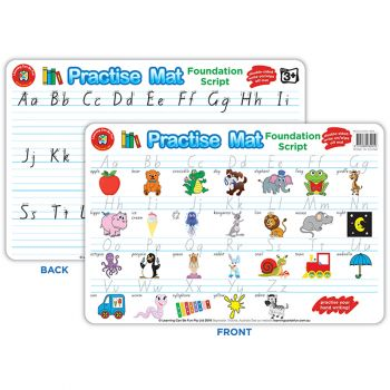 Practise Mat: Handwriting - Write and Wipe Double Sided
