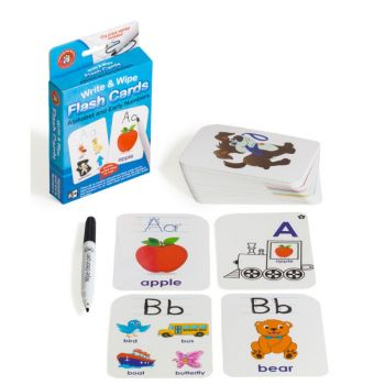 Write and Wipe Alphabet and Early Numbers Flash Cards
