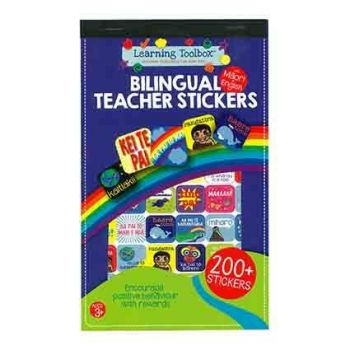 Teacher Stickers: Te Reo Sticker Pad with translation page