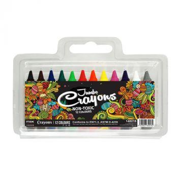 Max Colour Jumbo Crayons (12)