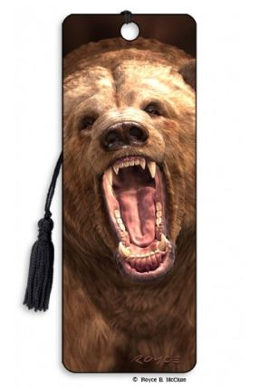 3D Bookmark Grizzly