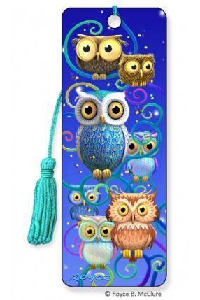 3D Bookmark Night Owls
