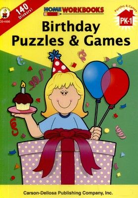 Home Workbook: Birthday Puzzles and Games (PK-Gr1) CD4500