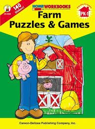 Home Workbook: Farm Puzzles and Games (PK-Gr1) CD4503