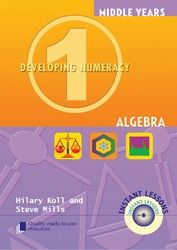 Middle Years Developing Numeracy: Algebra - Book 1 8070