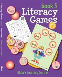 Blake's Learning Centres - Literacy Games- Book 3 4008
