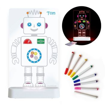 Aloka Sleepy Light: ColourMe Lamp - Robot