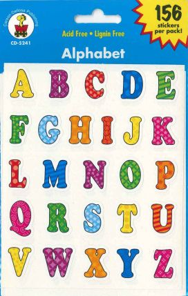 Alphabet Shape Stickers CD5241