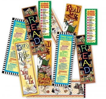 Bookmarks- Pack of 36 Assorted Bookmarks - TTMIX8