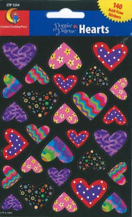 Poppin' Patterns Hearts Stickers CTP1254