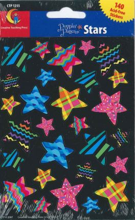 Poppin' Patterns Stars Stickers CTP1255