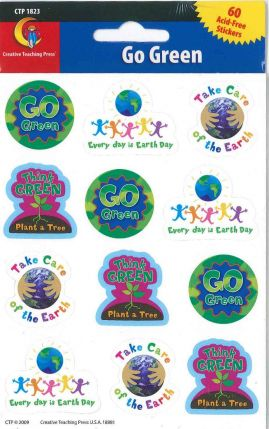Go Green Stickers CTP1823