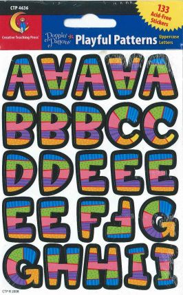 Alphabet Shape - Poppin' Patterns Playful Patterns Uppercase Letters Stickers CTP4636