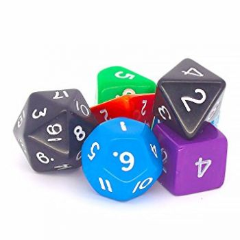 Dice Set Assorted Polyhedral - Pack of 12 - GA027